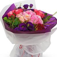 장미,수국꽃다발